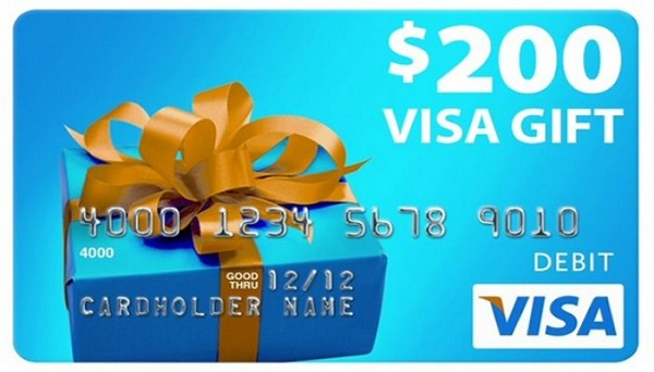 $200 Visa Gift Card Sweepstakes