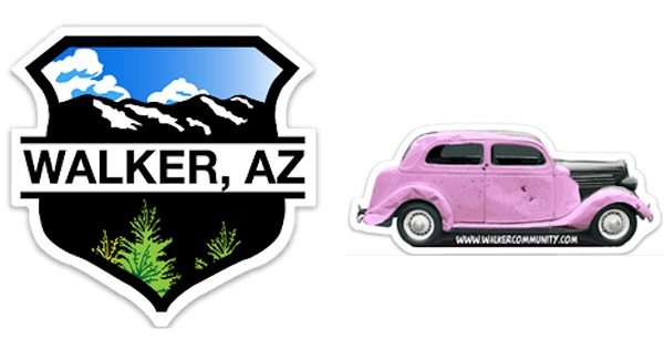 Free Walker Arizona or Pink Car Sticker