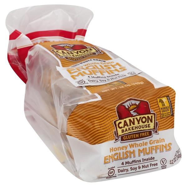 Free Canyon Bakehouse Honey Whole Grain English Muffins