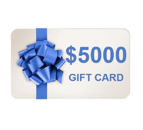 $5,000 Gift Card Sweepstakes