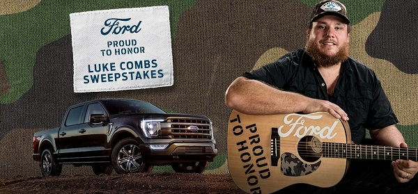 Ford 2021 F-150 And Luke Combs Sweepstakes